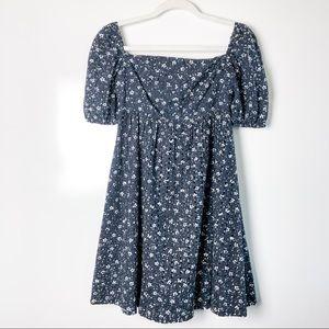 Anthropologie Maeve Eyelet Smocked Babydoll Dress